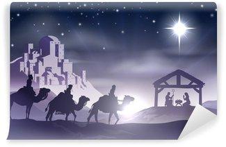 Vinylová Fototapeta Betlém vánoční scény