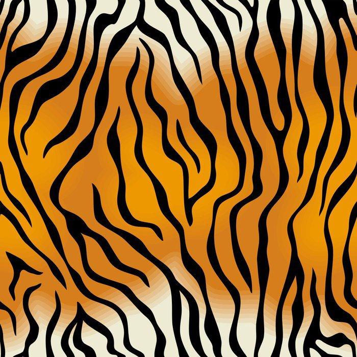 Fototapeta Vinylowa Bez szwu tekstury skóry tygrysa - Ssaki