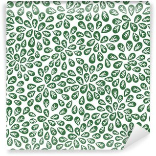 Vinylová Fototapeta Bezešvé abstraktní vzor zelené listy, zeleň vektoru
