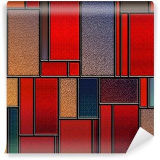 Vinylová Fototapeta Bezešvé dekorativní vitráže panel