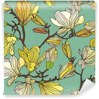 Vinylová Fototapeta Bezešvé květinové textury