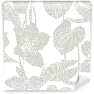 Vinylová Fototapeta Bezešvé květinový vzor