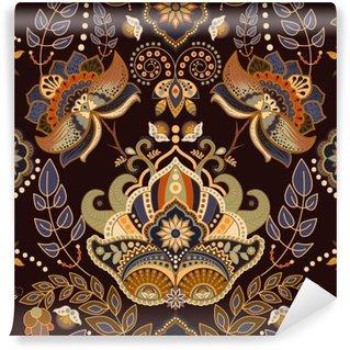 Vinylová Fototapeta Bezešvé Paisley pozadí, květinový vzor