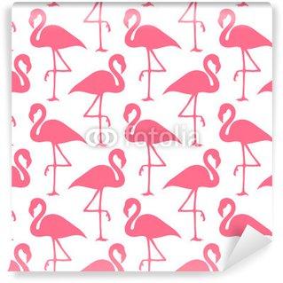 Vinylová Fototapeta Bezešvé vzor Flamingos Pink