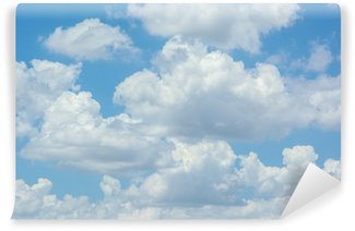 Fototapeta Winylowa Białe chmury na niebieskim niebie