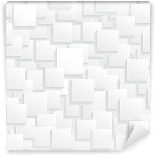 Fototapeta Winylowa Białe kwadraty na Placu tle z kropli