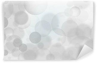 Fototapeta Vinylowa Białe pęcherzyki, szare tło flarium pęcherzyki