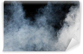 Fototapeta Winylowa Biały dym na czarnym tle. izolowane.
