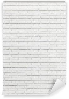 Fototapeta Winylowa Biały mur z cegły