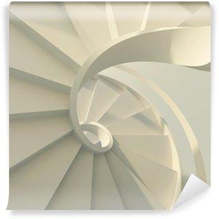 Fototapeta Winylowa Biały spiralne schody.