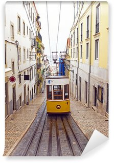 Vinylová Fototapeta Bica tramvaj v Lisabonu v Portugalsku