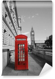 Vinylová Fototapeta Big Ben a červená telefonní budka