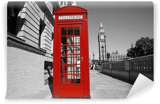 Vinylová Fototapeta Big Ben a Red Telefon Booth