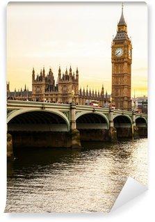 Vinylová Fototapeta Big Ben Clock Tower a Budova parlamentu v City of Westminster,