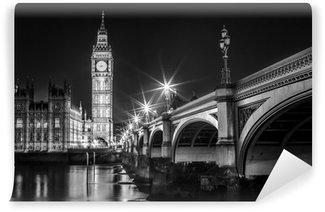 Vinylová Fototapeta Big Ben Clock Tower a Parlament dům