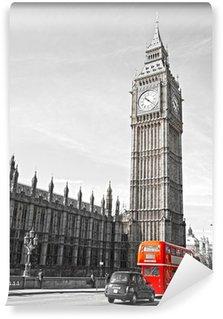 Vinylová Fototapeta Big Ben, Poslanecká sněmovna a Westminster Bridge