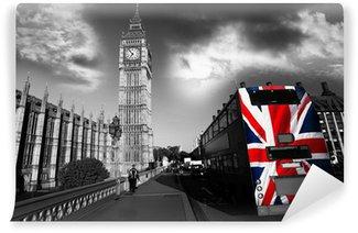 Vinylová Fototapeta Big Ben s městským autobusem v Londýně, Velká Británie
