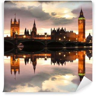 Vinylová Fototapeta Big Ben večer, Londýn, Velká Británie
