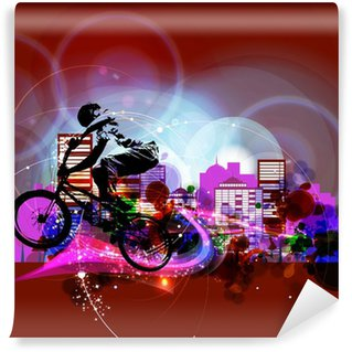 Vinylová Fototapeta Biker. Vektor