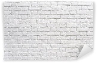 Vinylová Fototapeta Bílá cihlová zeď