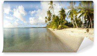 Vinylová Fototapeta Bílá písečná pláž panoramatický výhled
