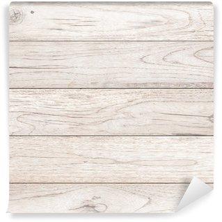 Vinylová Fototapeta Bílé dřevo prkna hnědé textury pozadí