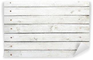 Vinylová Fototapeta Bíle lakovaná dřevěná prkna