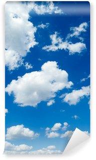 Vinylová Fototapeta Bílé mraky na modré obloze. Cloudscape