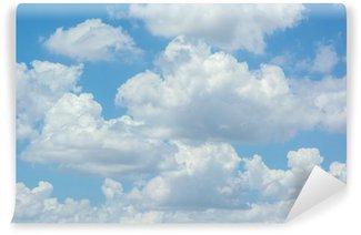 Vinylová Fototapeta Bílé mraky na modré obloze