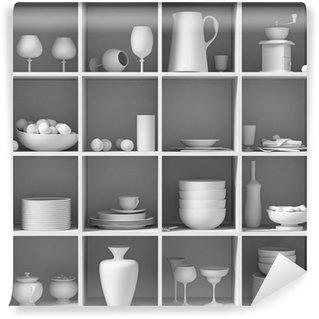 Vinylová Fototapeta Bílé nádobí