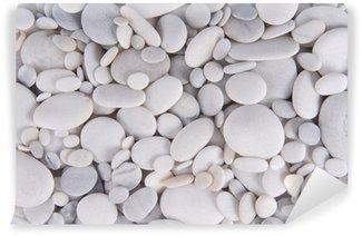 Vinylová Fototapeta Bílé oblázky kameny pozadí