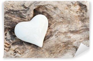 Vinylová Fototapeta Bílé srdce
