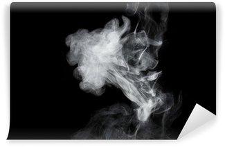 Vinylová Fototapeta Bílý kouř na černém pozadí. Isolated.