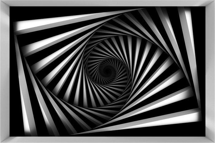 Fototapeta Vinylowa Black And White Spiral -
