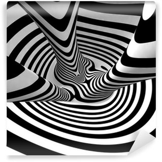 Vinylová Fototapeta Black and White Stripes Projekce na torus.