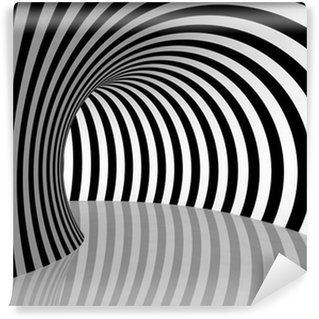 Fototapeta Winylowa Black and White Stripes Projekcja na torus.
