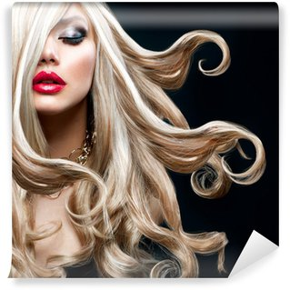 Vinylová Fototapeta Blond vlasy. Krásná Sexy blondýnka