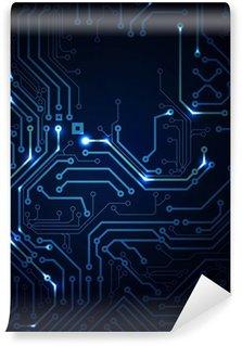 Vinylová Fototapeta Blue abstraktní pozadí digitálních technologií