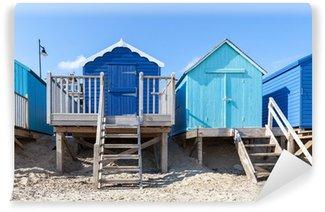 Vinylová Fototapeta Blue Beach chaty