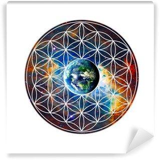 Vinylová Fototapeta Blume des Lebens - Erde - Heilige Geometrie