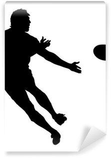 Vinylová Fototapeta Boční profil Rugby Speedster přihrávat