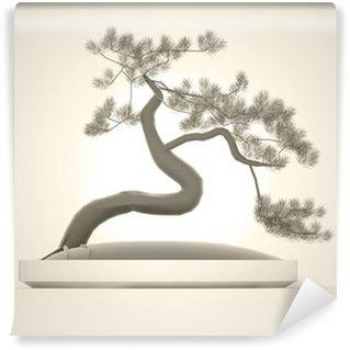 Vinylová Fototapeta Bonsai strom vykreslen na tmavě