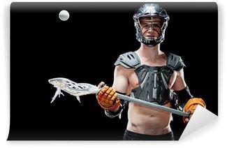 Vinylová Fototapeta Boys lacrosse hráč chytat míč