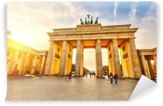 Vinylová Fototapeta Brandenburg brána při západu slunce