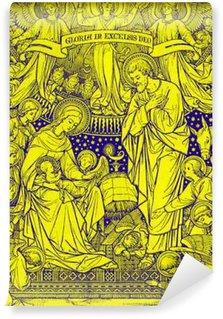 Vinylová Fototapeta BRATISLAVA, SLOVENSKO, listopadu - 21, 2016: litografie Narození v Missale Romanum od neznámého autora s iniciály FMS z konce 19. stol. a tištěný Typis Friderici Pustet.