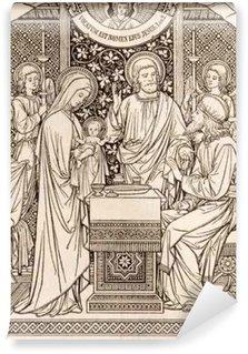 Vinylová Fototapeta BRATISLAVA, SLOVENSKO, listopadu - 21, 2016: litografie prezentace v chrámu od neznámého autora s iniciály FMS (1894) a vytištěných Typis Friderici Pustet.