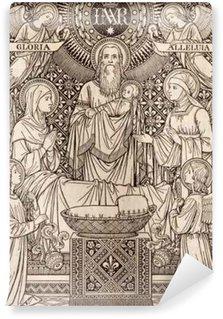 Vinylová Fototapeta BRATISLAVA, SLOVENSKO, listopadu - 21, 2016: litografie prezentace v chrámu tím neznámým umělcem s iniciály FMS (1893) a vytištěných Typis Friderici Pustet.
