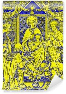 Vinylová Fototapeta BRATISLAVA, SLOVENSKO, listopadu - 21, 2016: litografie Tří králů v Missale Romanum od neznámého autora s iniciály FMS z konce 19. stol. a tištěný Typis Friderici Pustet.