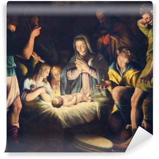 Vinylová Fototapeta Brescia, Itálie - 21.května 2016: Obraz Narození v kostele Chiesa del Santissimo Corpo di Cristo Pier Maria Bagnadore (1550 - 1627).
