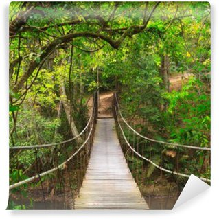 Vinylová Fototapeta Bridge do džungle, Národní park Khao Yai, Thajsko